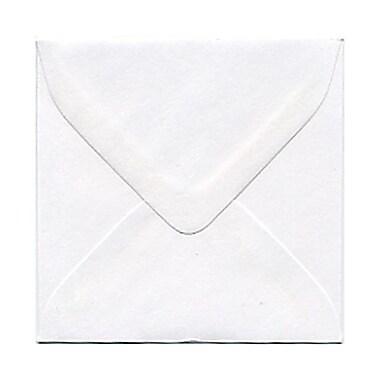 JAM Paper® Square Mini Envelopes with Gum Closures, White