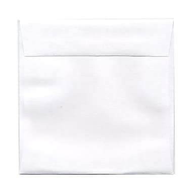 JAM PaperMD – Enveloppes carrées standard avec fermeture gommée, 4 1/2 x 4 1/2 po, blanc