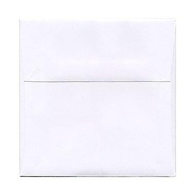 JAM PaperMD – Enveloppes carrées standard avec fermeture gommée, 6 1/2 x 6 1/2 po, blanc