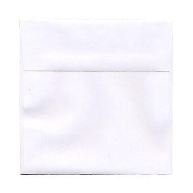 JAM PaperMD – Enveloppes format livret Brite Hue en papier recyclé à fermeture gommée, 8 1/2 x 8 1/2 po, rouge Noël