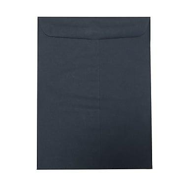 JAM PaperMD – Enveloppes à ouverture au sommet et à fermeture gommée, 9 po x 12 po, bleu marine