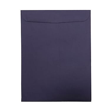 JAM PaperMD – Enveloppes à ouverture au sommet avec fermeture gommée, 9 x 12 po, violet foncé