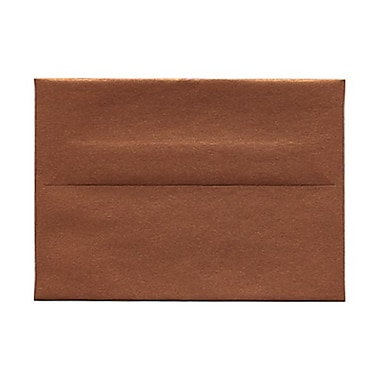JAM PaperMD – Enveloppes livret Stardream fini métallique avec fermeture gommée, 3 5/8 x 5 1/8 po, cuivre