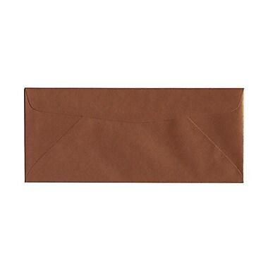 JAM PaperMD – Enveloppes livret Stardream fini métallique avec fermetures gommées, 4 1/8 x 9 1/2 po, cuivre