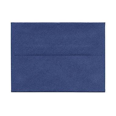 JAM PaperMD – Enveloppes livret Stardream fini métallique avec fermetures gommées, 4 3/4 x 6 1/2 po, couleur bleu saphir