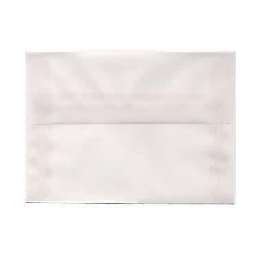 JAM Paper® Booklet Translucent Vellum Envelopes with Gum Closures, 4 3/4