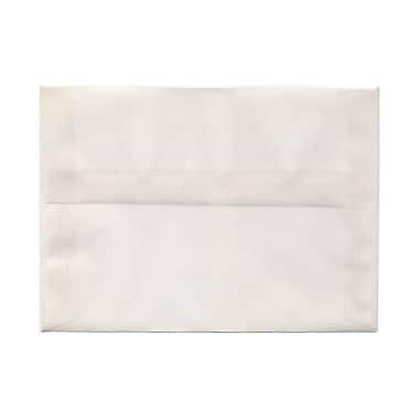 JAM PaperMD – Enveloppes à brochure Strathmore à fermeture gommée, papier toilé, 5-1/4 x 7-1/4 po, blanc lumineux