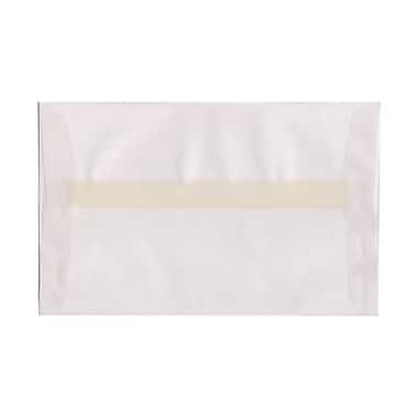 JAM PaperMD – Enveloppes à brochure Strathmore à fermeture gommée, papier toilé, 5-1/2 x 8-1/8 po, blanc lumineux