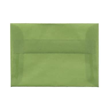 JAM PaperMD – Enveloppes à brochure à fermeture gommée, papier vélin translucide, 3-5/8 x 5-1/8 po, vert de chrome