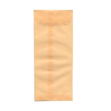 JAM PaperMD – Enveloppes-pochette à fermeture gommée, papier vélin translucide, 4-1/8 x 9-1/2 po, ivoire
