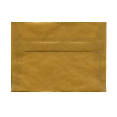 JAM PaperMD – Enveloppes avec revêtement intérieur et fermeture gommée, 5 1/4 x 7 1/4 po, noir avec intérieur argent
