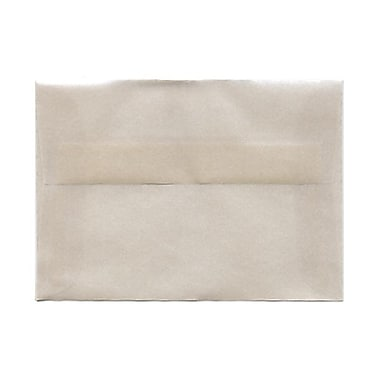 JAM Paper® Booklet Translucent Vellum Envelopes with Gum Closures, 3-5/8