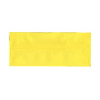 JAM PaperMD – Enveloppes à brochure à fermeture gommée, papier vélin translucide, 4-1/8 x 9-1/2 po, jaune primaire