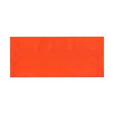 JAM PaperMD – Enveloppes à brochure à fermeture gommée, papier vélin translucide, 4-1/8 x 9-1/2 po, orange