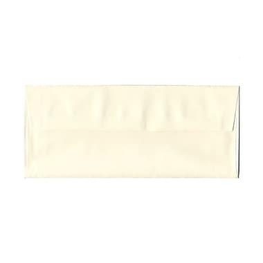 JAM PaperMD – Enveloppes Strathmore en papier vergé avec rabat gommé et ouverture latérale, 4-1/8 po x 9-1/2 po, blanc naturel
