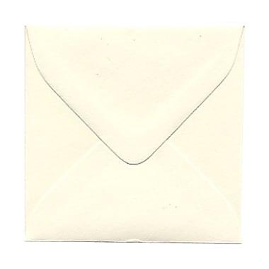 JAM PaperMD – Enveloppes carrées Strathmore à fermeture gommée, blanc naturel