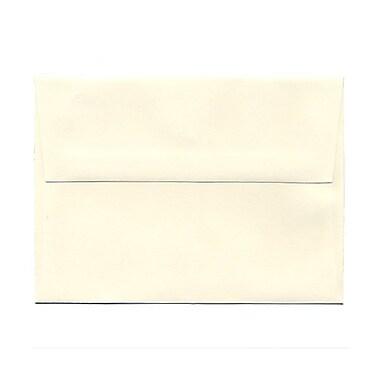 JAM PaperMD – Enveloppes en papier vélin à rabat large, format livret à fermeture gommée, 4 3/4 x 6 1/2 po, blanc naturel