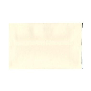 JAM PaperMD – Enveloppes carrées en papier vélin translucide à fermeture gommée, 5 x 5 po, transparent