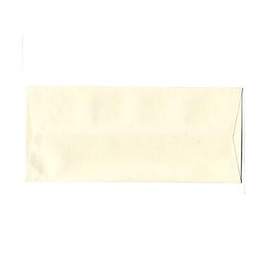 JAM PaperMD – Enveloppes Strathmore en papier vélin avec rabat gommé et ouverture latérale, 4-1/8 po x 9-1/2 po, blanc naturel