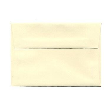 JAM PaperMD – Enveloppes en papier vélin à rabat large, format livret à fermeture gommée, 3 5/8 x 5 1/8 po, ivoire