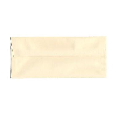 JAM PaperMD – Enveloppes Strathmore en papier vélin avec rabat gommé et ouverture latérale, 4-1/8 po x 9-1/2 po, couleur ivoire