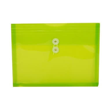 JAM PaperMD – Enveloppes en plastique format lettre, 9 3/4 x 13 po, vert lime