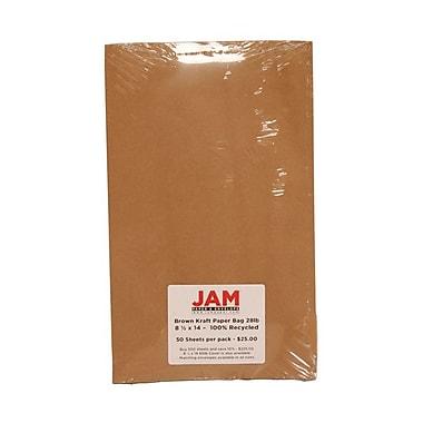 Jam Paper® Kraft Paper Bag Recycled Paper, 8-1/2