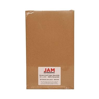 Jam Paper® Kraft Paper Bag Recycled Cardstock, 8-1/2
