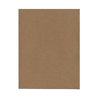 JAM PaperMD – Papier de couverture cartonné composé à 100 % de sacs en papier kraft recyclé, texturé, 8-1/2 x 11, brun