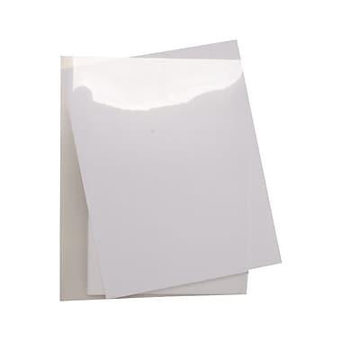 JAM PaperMD – Pochette en plastique, 9 x 11 1/2 po, transparent