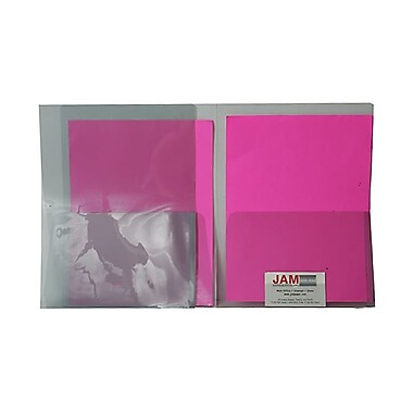 JAM PaperMD – Chemises de plastique transparentes à 2 pochettes, poids régulier, 9 x 12, gris fumée
