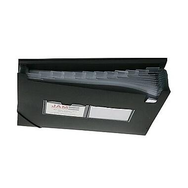 Jam PaperMD – Chemise accordéon format lettre à 13 pochettes, 9 x 13 po, noir