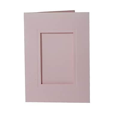 JAM Paper MD – Carte pour photo 5 x 7 po avec une ouverture de 2 1/2 x 4 po, rose bébé