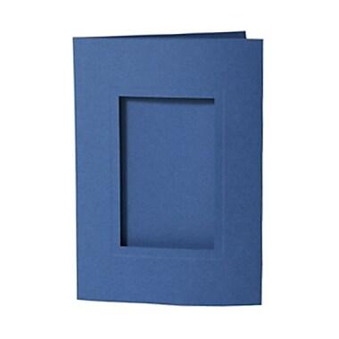 JAM Paper MD – Carte pour photo 5 x 7 po avec une ouverture de 2 1/2 x 4 po, bleu