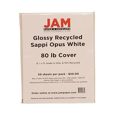 Jam Paper® Glossy Cardstock, 8-1/2