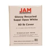 JAM Paper – Papier cartonné, brillant, 8-1/2 x 11 po, blanc