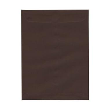 JAM PaperMD – Enveloppes ouvertes au bout avec fermeture gommée, 9 x 12 po, brun chocolat