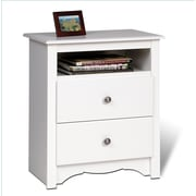 "Prepac™ 28"" Monterey Tall 2 Drawer Nightstands With Open Shelf"