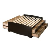 "Prepac 57"" Tall Full Captain's Platform Storage Beds With 12 Drawers"