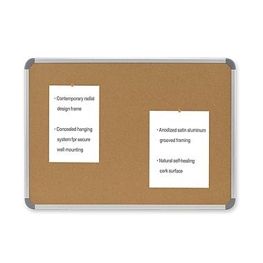 Ghent CintraMD – Tableau en liège style européen avec cadre en aluminium, 18 x 24 po