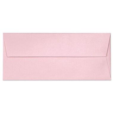 LUX ? Enveloppes à rabat carré no 10 avec colle à humecter (4 1/8 x 9 1/2 po), quartz rose métallique
