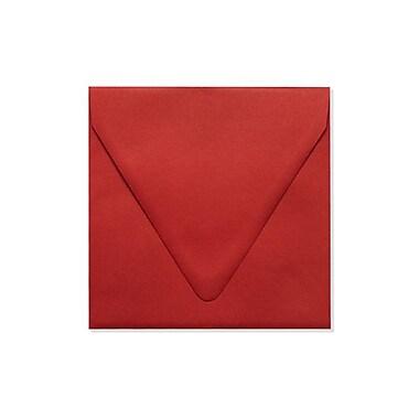 LUX 6 1/2 x 6 1/2 Square Contour Flap Envelopes, Ruby Red