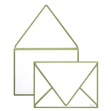 LUX A1 Colourseams Envelopes (3 5/8 x 5 1/8), Avocado Seam