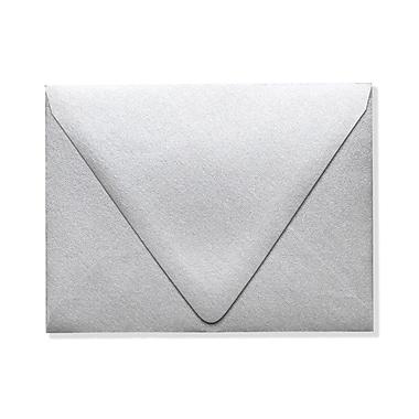 LUX ? Enveloppes A2 à rabat contour, argenté métallique