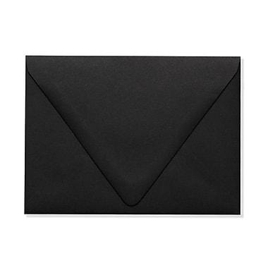LUX A6 Contour Flap Envelopes (4 3/4 x 6 1/2), Midnight Black