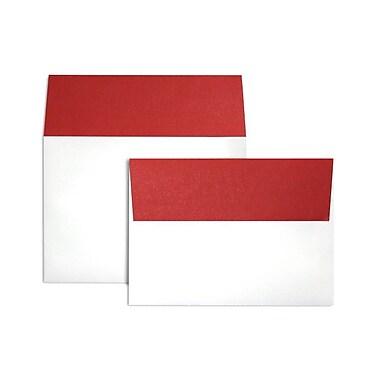 LUX ? Enveloppes à rabat coloré A7 (5 1/4 x 7 1/4 po), rabat rouge rubis