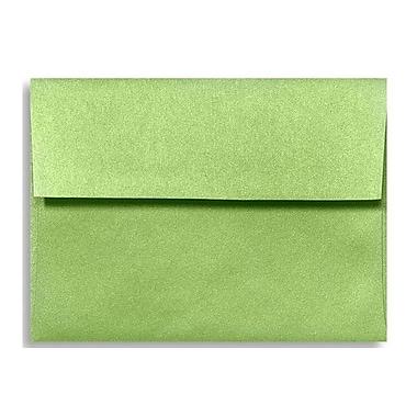 LUX ? Enveloppes d?invitation A7 (5 1/4 x 7 1/4 po), vert golf métallique