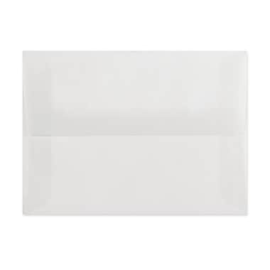 LUX A8 Invitation Envelopes (5 1/2 x 8 1/8), Clear Translucent