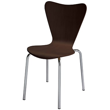 KFI Seating Wood Contemporary Stack Chairs With Stain Finish