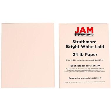 Jam PaperMD – Papier vergé Strathmore, 8 1/2 x 11 po, blanc brillant
